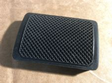Footbrake pedal rubber